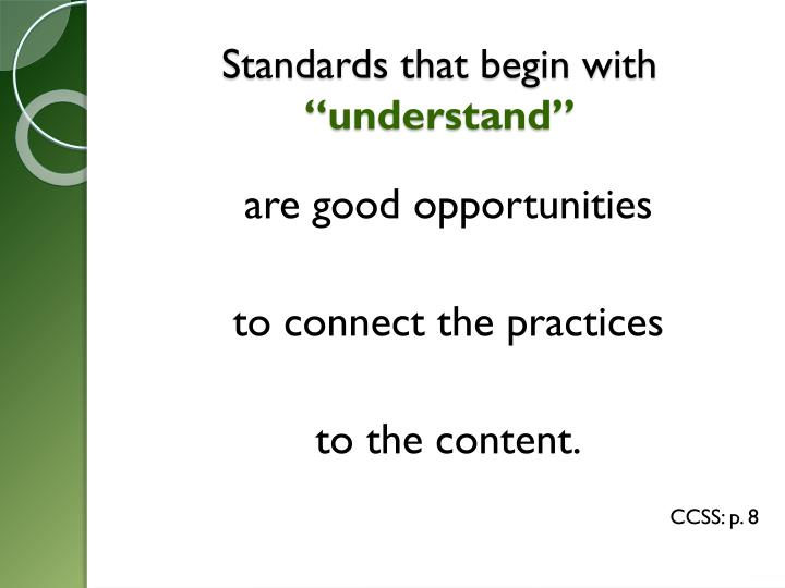 Standards that begin with