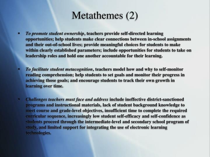 Metathemes (2)