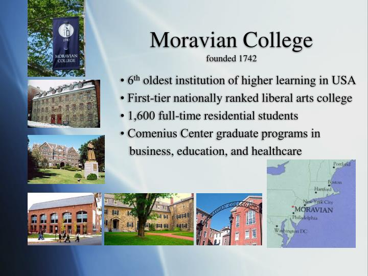 Moravian college founded 1742