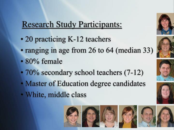 Research Study Participants:
