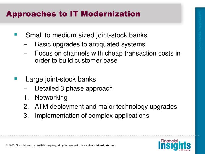 Approaches to IT Modernization