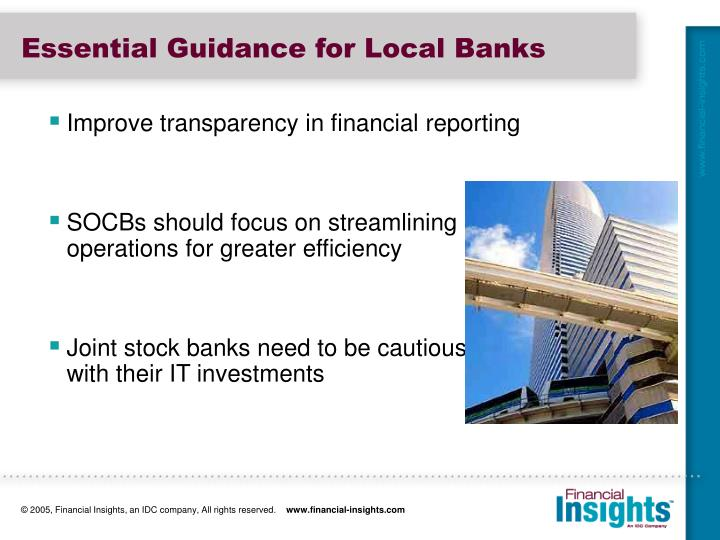 Essential Guidance for Local Banks