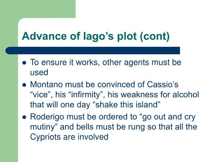 Advance of Iago's plot (cont)