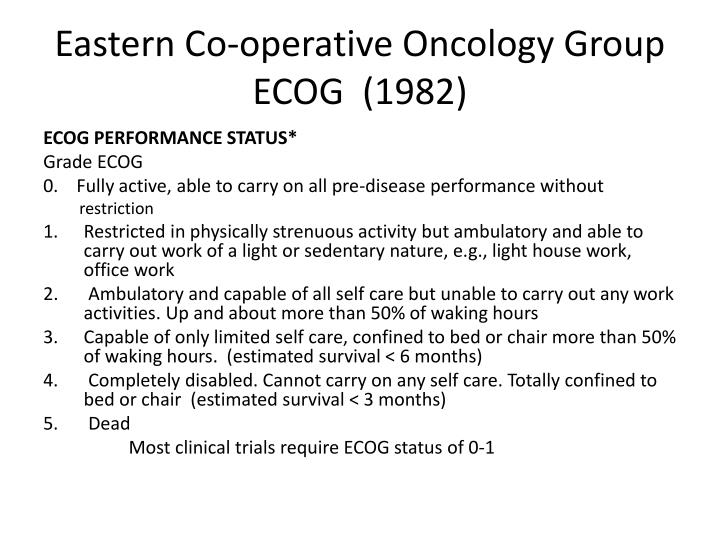 Eastern Co-operative Oncology Group