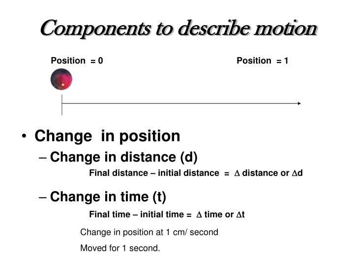 Components to describe motion