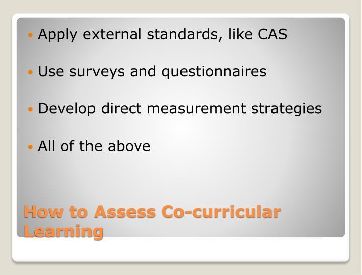 Apply external standards, like CAS