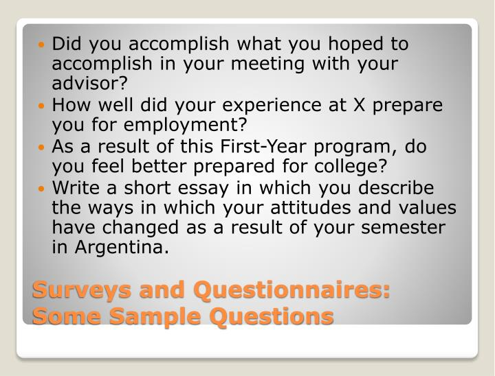 Did you accomplish what you hoped to accomplish in your meeting with your advisor?
