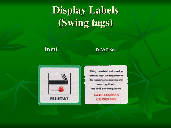 Display Labels