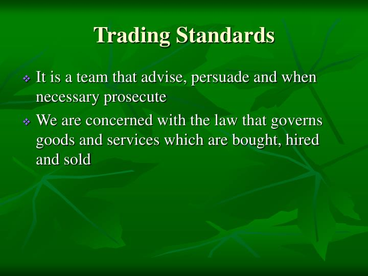 Trading standards1