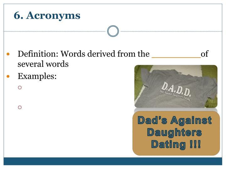 6. Acronyms