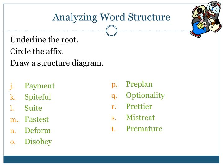 Analyzing Word Structure