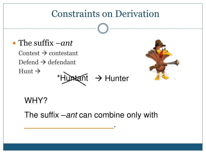 Constraints on Derivation