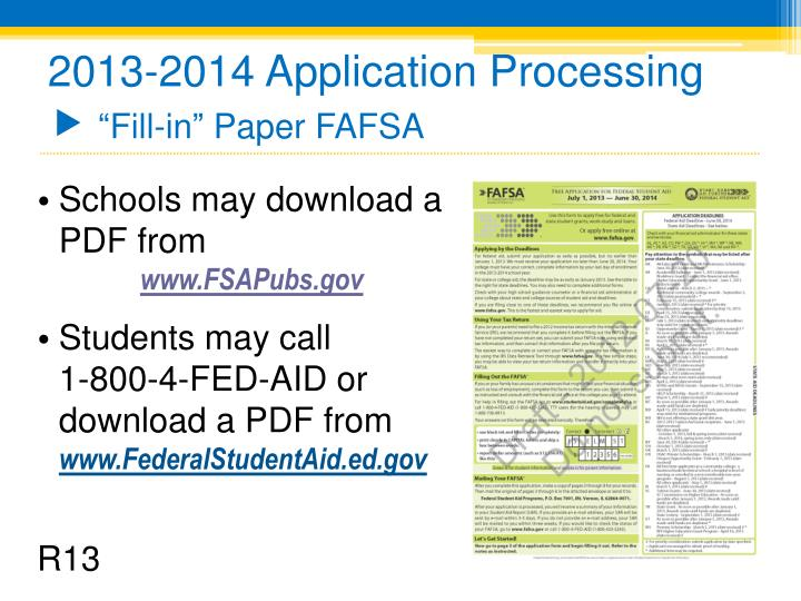 2013-2014 Application Processing
