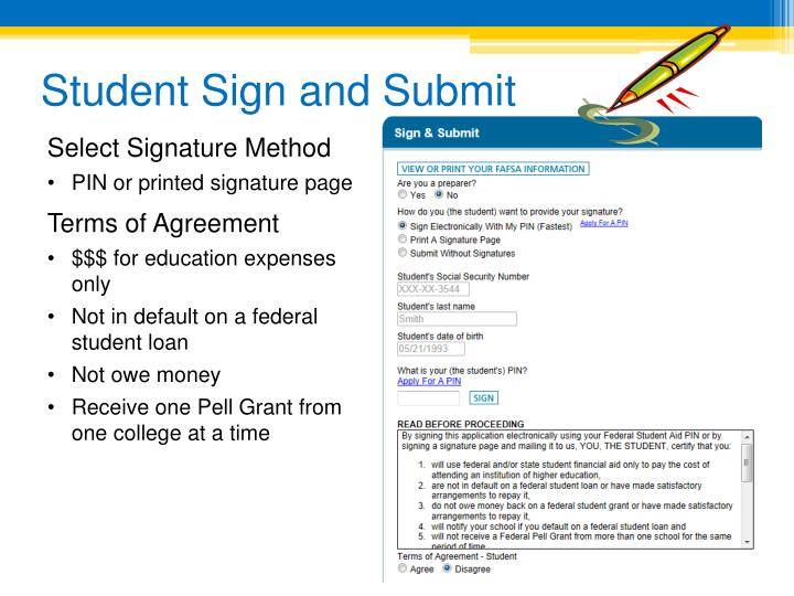 Student Sign and Submit