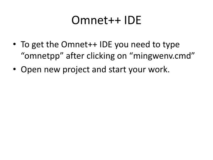 Omnet++ IDE