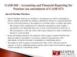 gasb 68 accounting and financial reporting for pensions an amendment of gasb 272