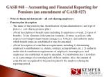 gasb 68 accounting and financial reporting for pensions an amendment of gasb 277