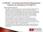 gasb 68 accounting and financial reporting for pensions an amendment of gasb 279