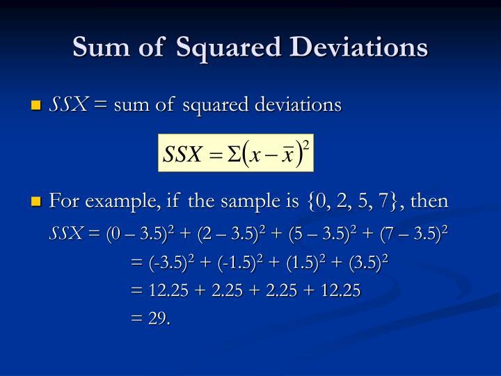 Sum of Squared Deviations