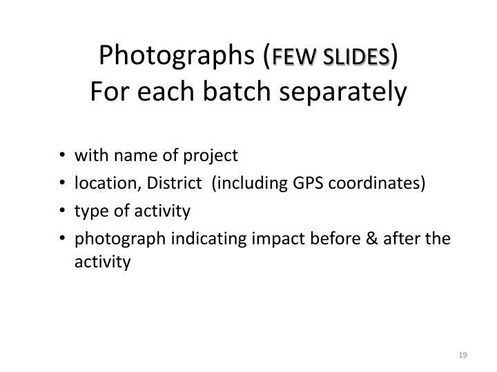 Photographs (