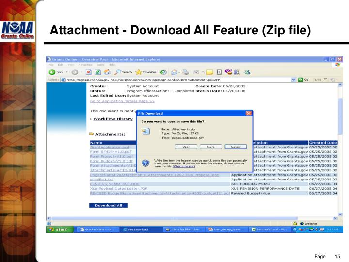 Attachment - Download All Feature (Zip file)