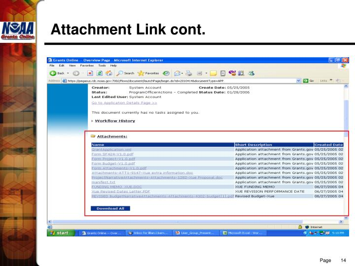 Attachment Link cont.