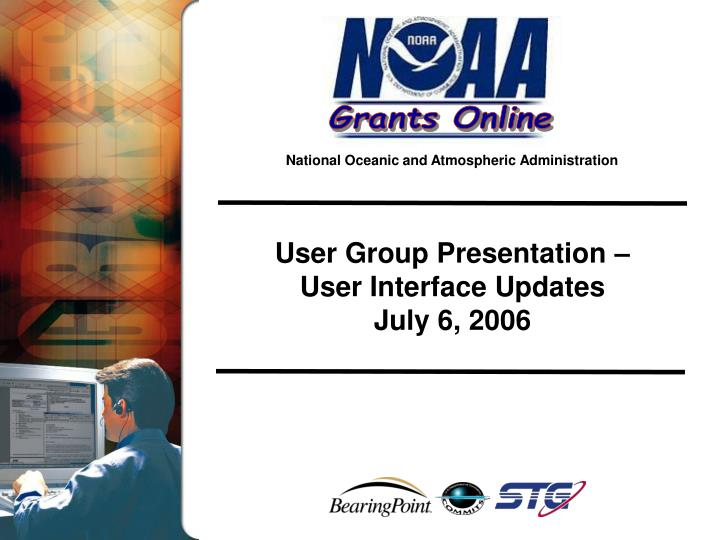 User Group Presentation –