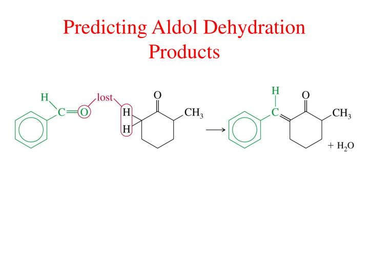 Predicting Aldol Dehydration Products
