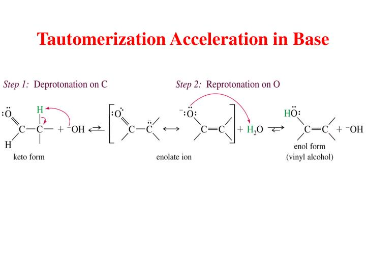 Tautomerization Acceleration in Base