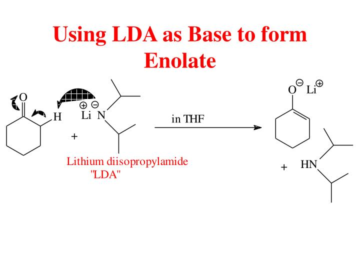 Using LDA as Base to form Enolate