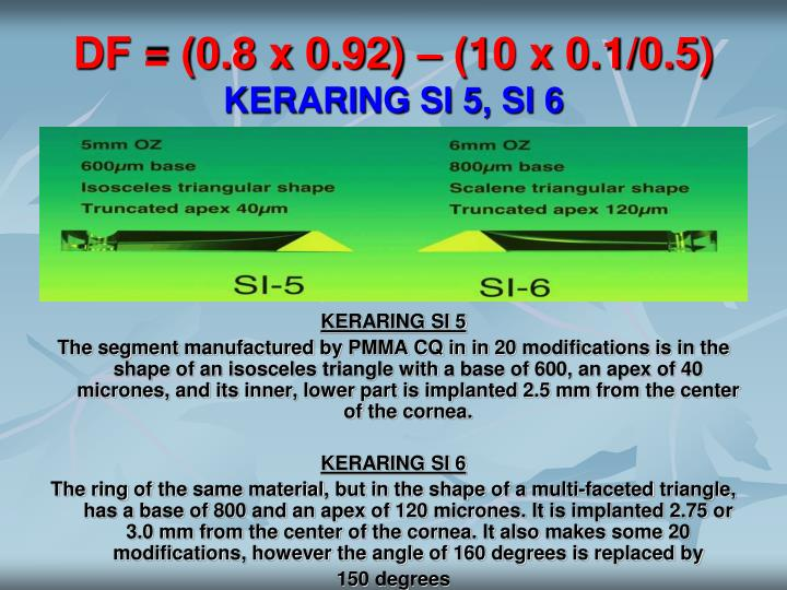 DF = (0.8 x 0.92) – (10 x 0.1/0.5)
