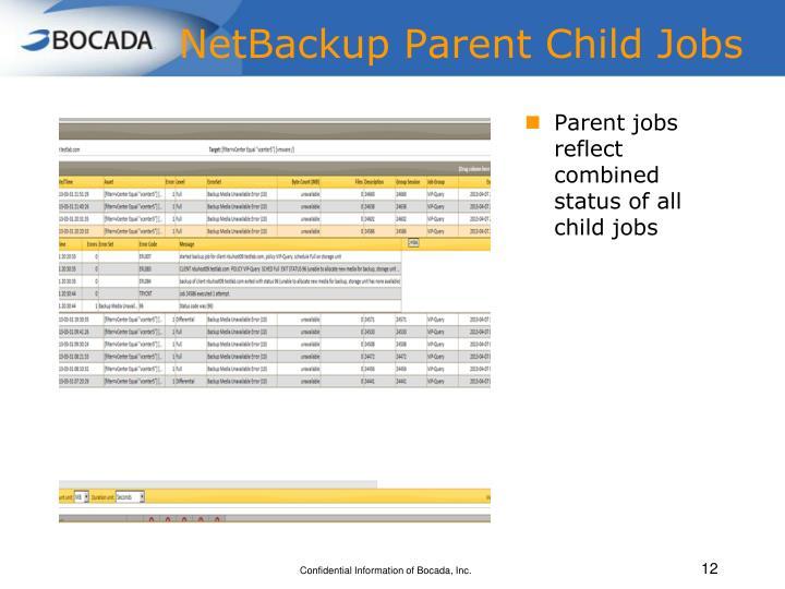 NetBackup Parent Child Jobs