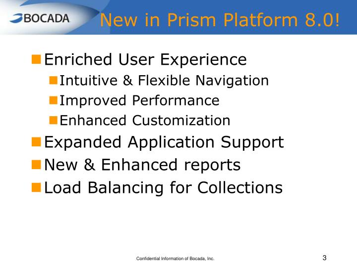 New in Prism