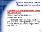 special historical online resources immigration