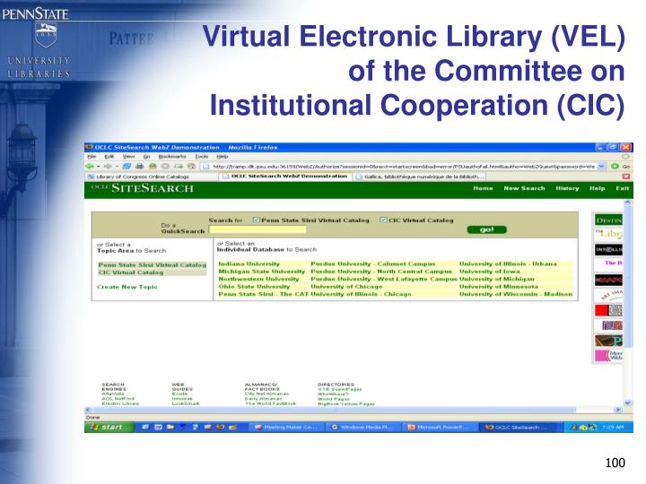 Virtual Electronic Library (VEL)