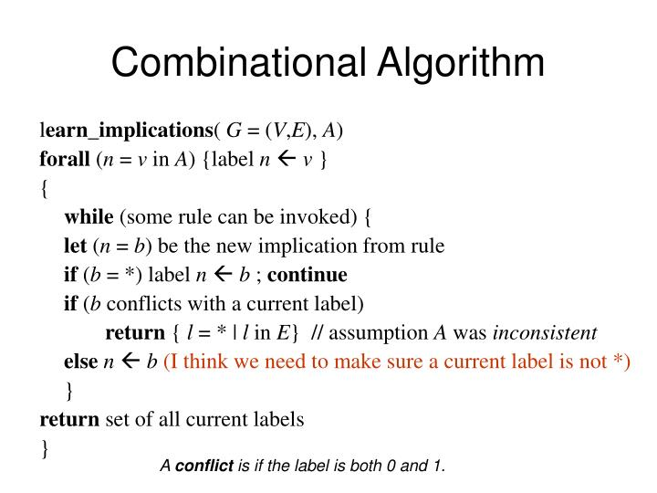 Combinational Algorithm
