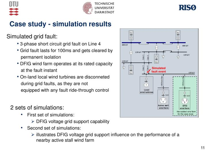 Case study - simulation results
