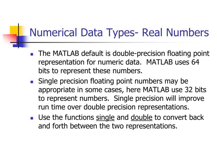 Numerical Data Types- Real Numbers