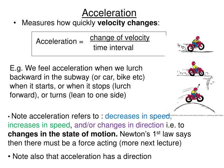 change of velocity