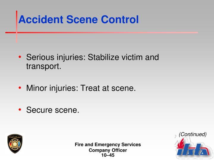 Accident Scene Control