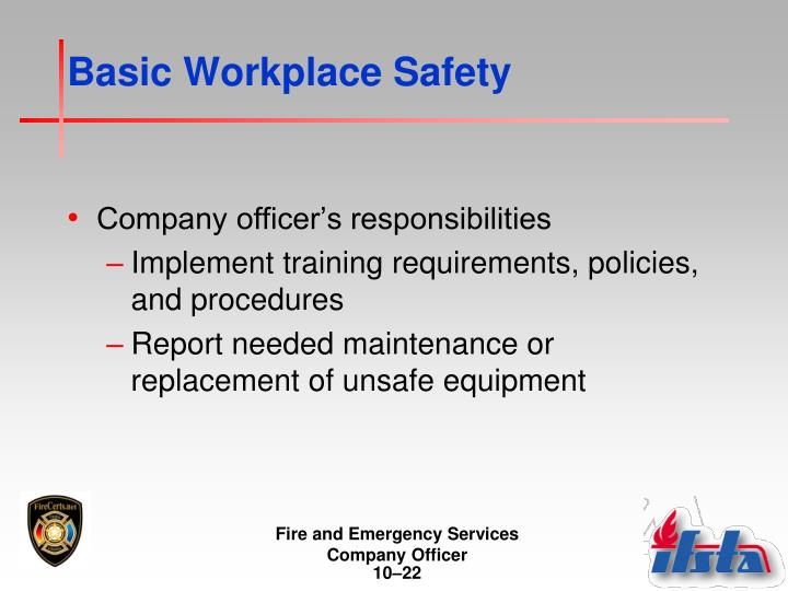 Basic Workplace Safety