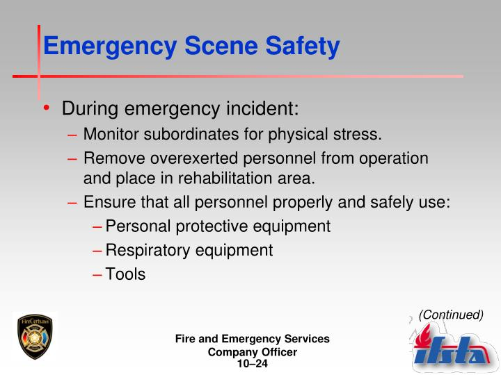 Emergency Scene Safety