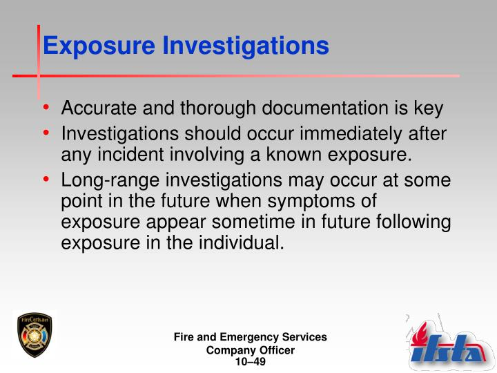 Exposure Investigations