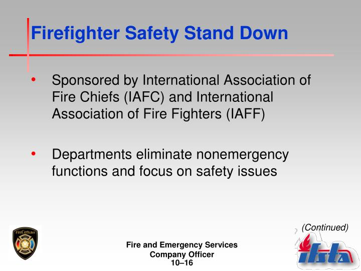 Firefighter Safety Stand Down