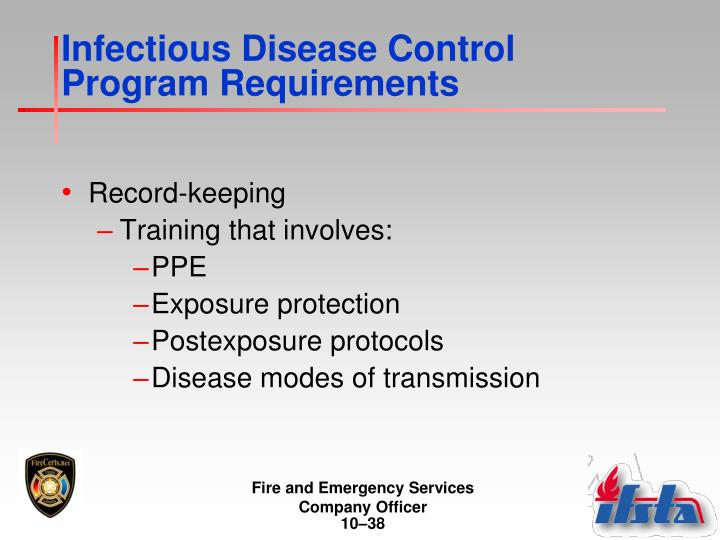 Infectious Disease Control Program Requirements
