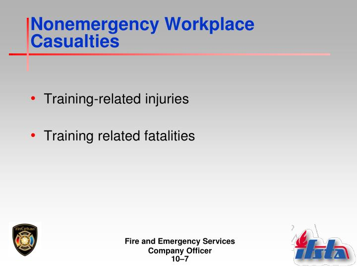 Nonemergency Workplace Casualties