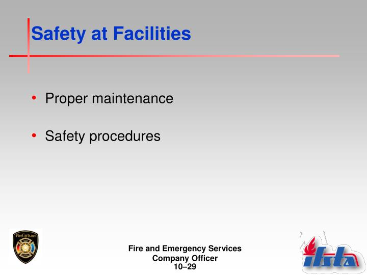 Safety at Facilities