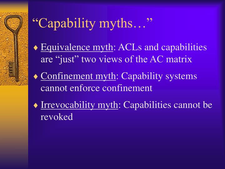 """""""Capability myths…"""""""