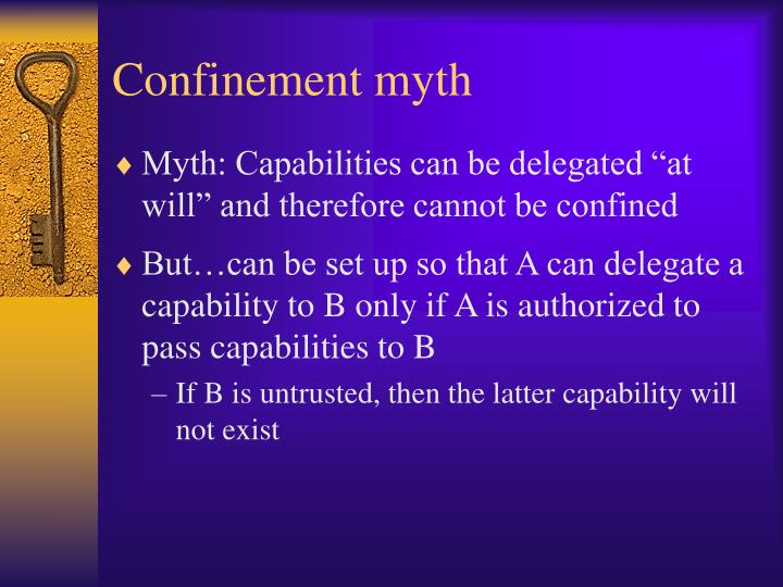 Confinement myth