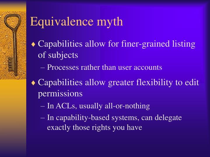 Equivalence myth